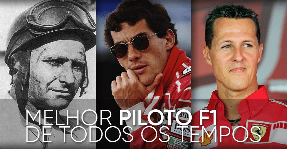 Passatempo Melhor Piloto F1 de Todos os Tempos