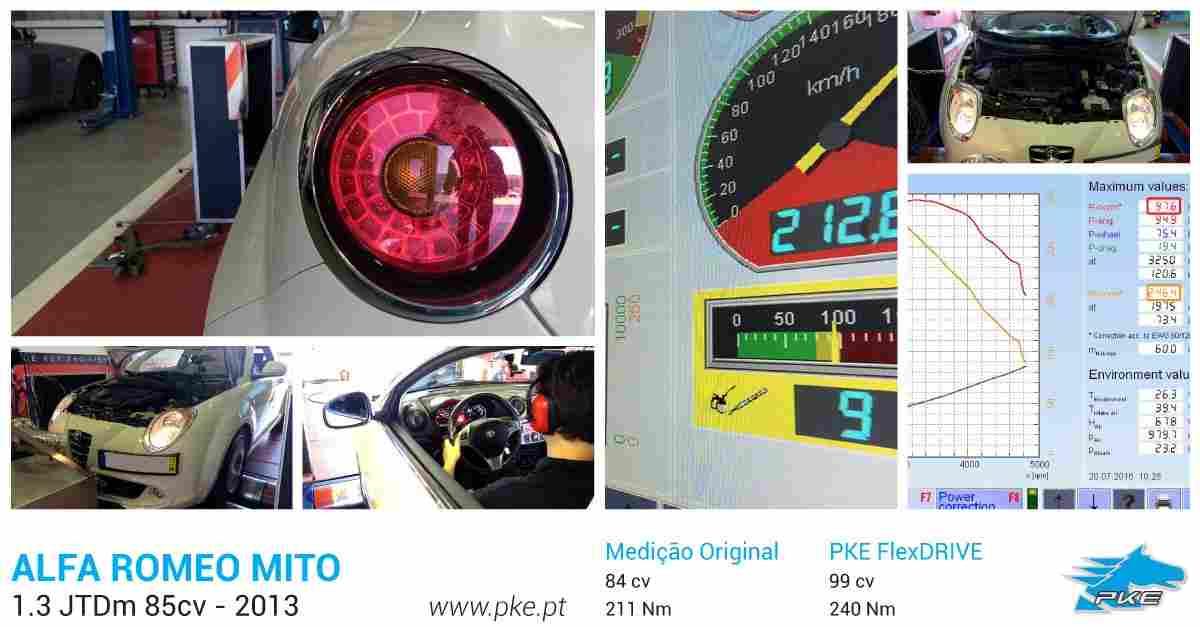 PKE FlexDRIVE em Alfa Romeo Mito 1.3 JTDm 85cv – 2013
