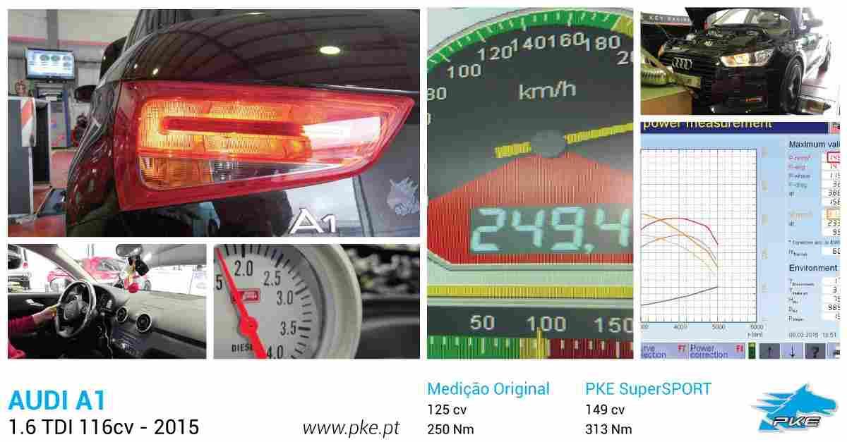 PKE SuperSPORT em AUDI A1 1.6 TDI 116cv – 2015