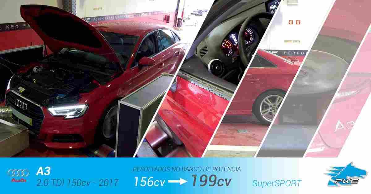 PKE SuperSPORT em Audi A3 2.0 TDI 150cv – 2017