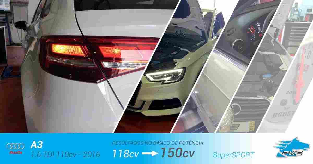 PKE SuperSPORT em Audi A3 1.6 TDI 110cv – 2016