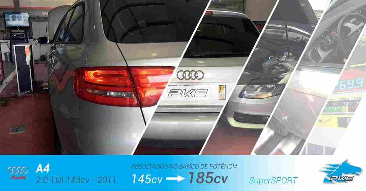 PKE SuperSPORT em Audi A4 2.0 TDI 143cv – 2011
