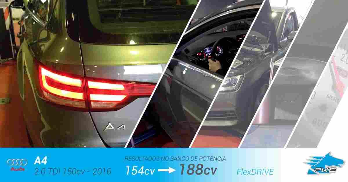 PKE FlexDRIVE em Audi A4 2.0 TDI 150cv – 2016