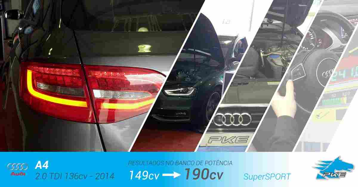 PKE SuperSPORT em Audi A4 2.0 TDI 136cv – 2014