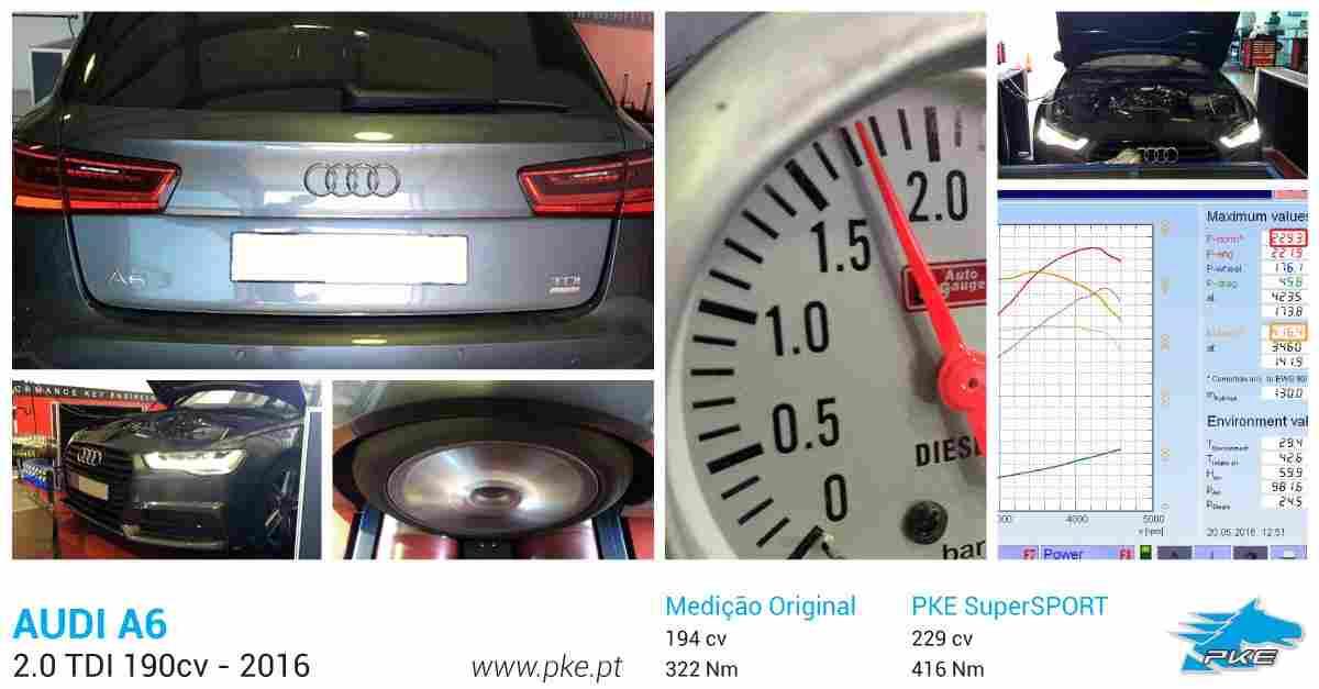 PKE SuperSPORT em Audi A6 2.0 TDI 190cv – 2016
