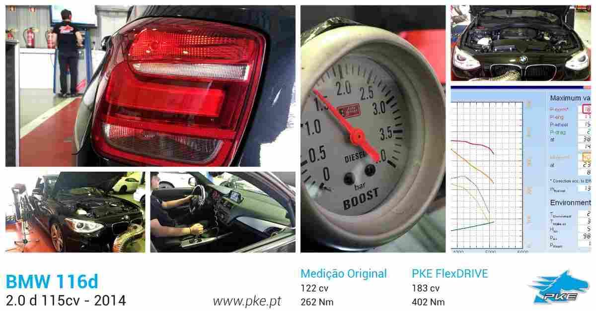 PKE FlexDRIVE em BMW 116d 2.0 115cv – 2014