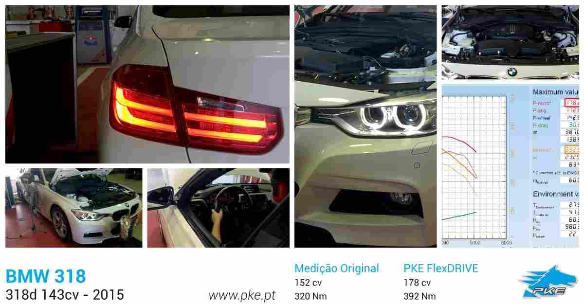 PKE FlexDRIVE em BMW 318d 143cv – 2015