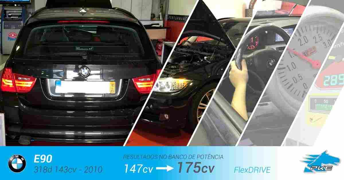 PKE FlexDRIVE em BMW 318d 143cv – 2010