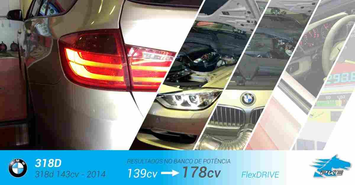 PKE FlexDRIVE em BMW 318d 143cv – 2014
