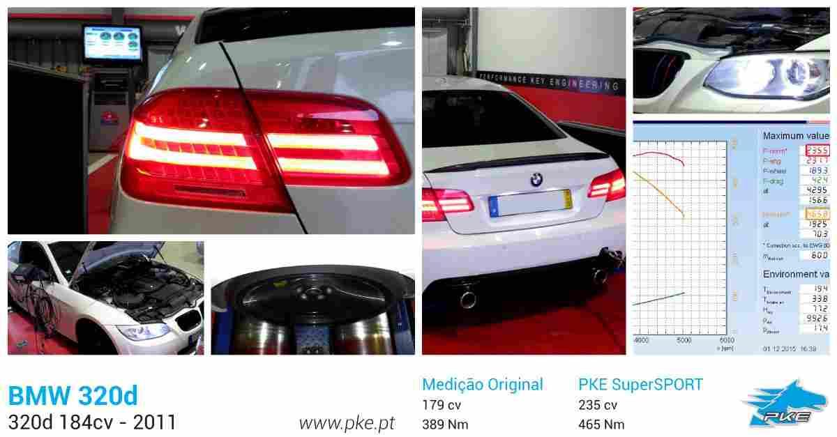 PKE SuperSPORT em BMW 320d 184cv – 2011