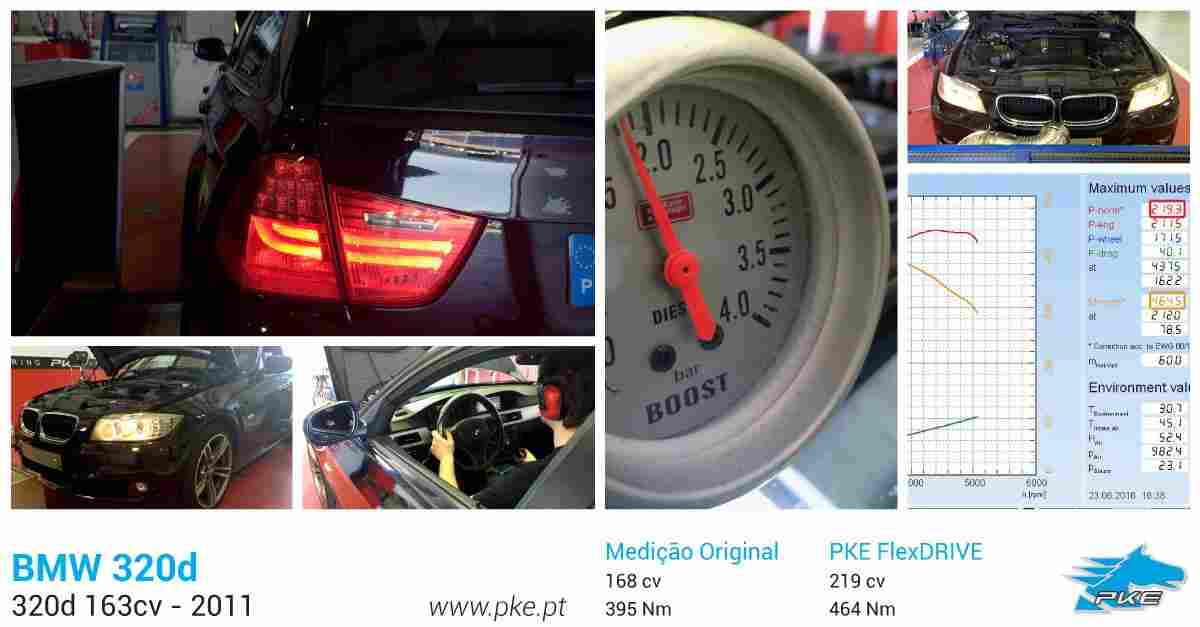 PKE FlexDRIVE em BMW 320d 163cv – 2011
