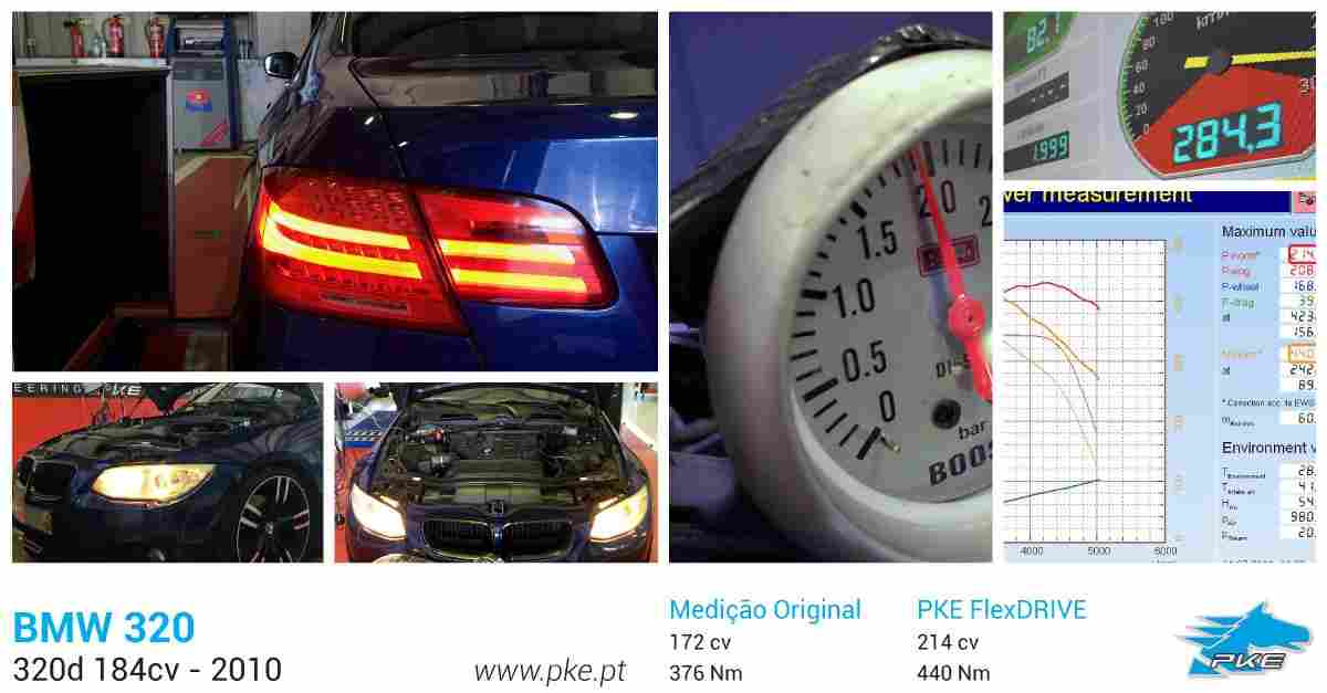 PKE FlexDRIVE em BMW 320d 184cv – 2010