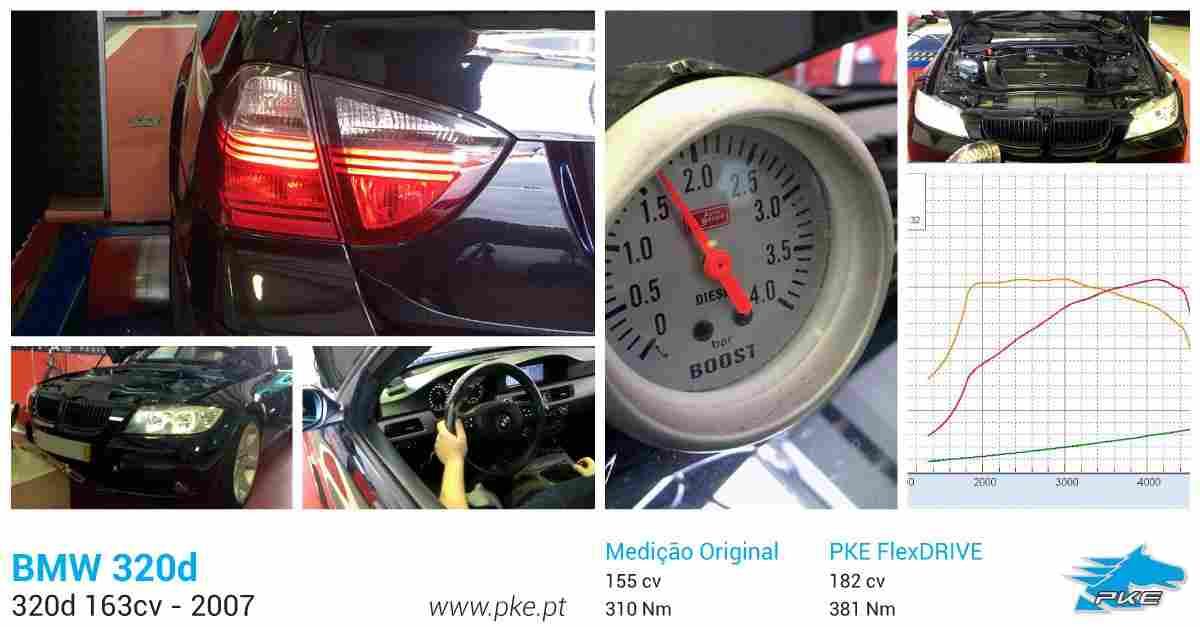 PKE FlexDRIVE em BMW 320d 163cv – 2007