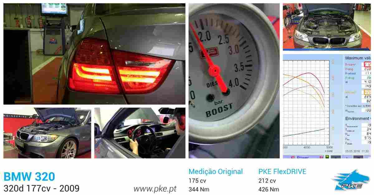 PKE FlexDRIVE em BMW 320d 177cv – 2009