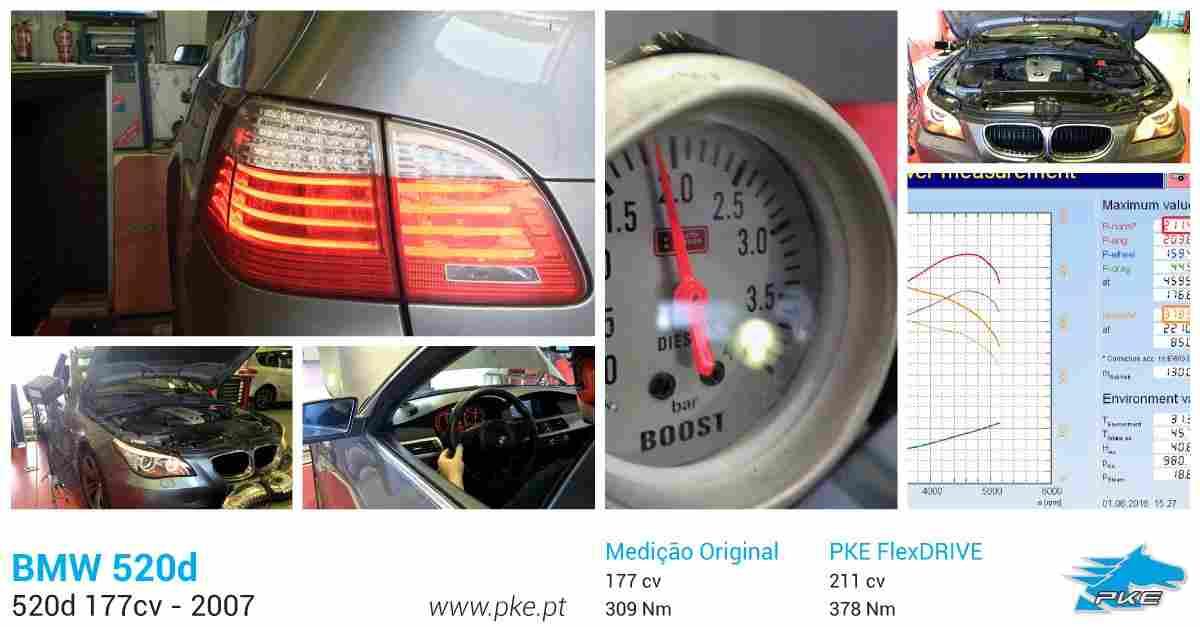 PKE FlexDRIVE em BMW 520d 177cv – 2007