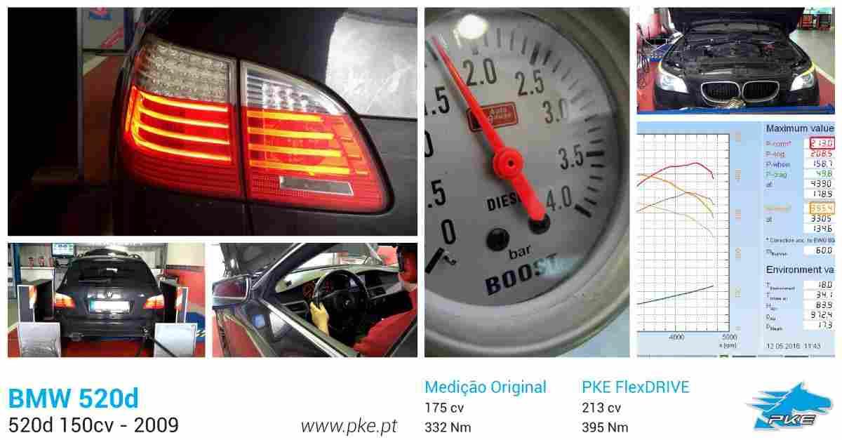PKE FlexDRIVE em BMW 520d 177cv – 2009