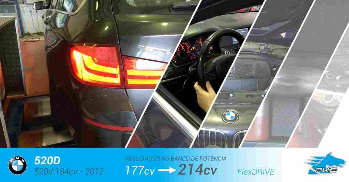 PKE FlexDRIVE em BMW 520d 184cv – 2012
