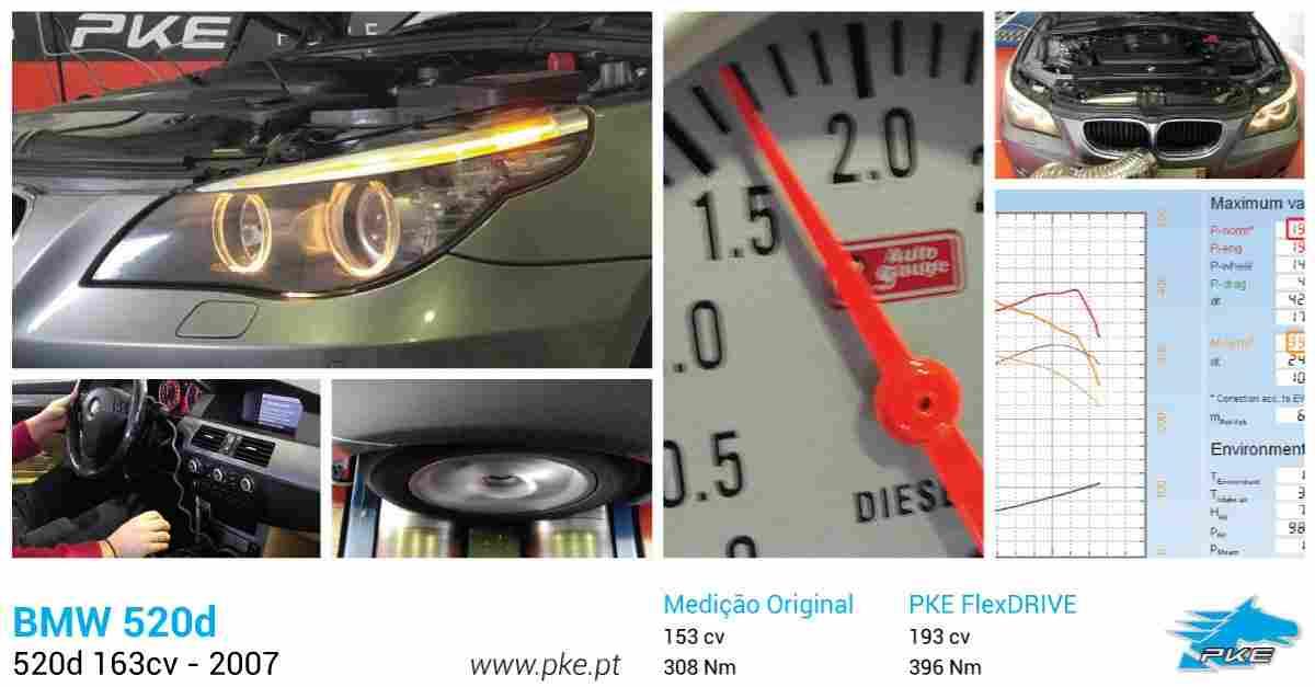 PKE FlexDRIVE em BMW 520d 163cv – 2007