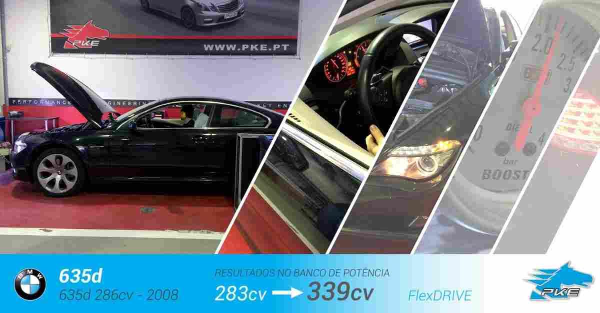 PKE FlexDRIVE em BMW 635d 286cv – 2008