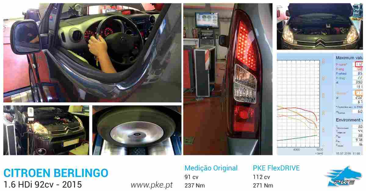 PKE FlexDRIVE em Citroen Berlingo 1.6 HDi 92cv – 2015