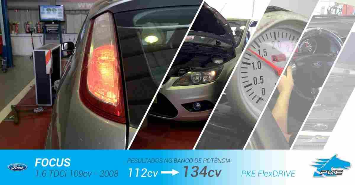 PKE FlexDRIVE em Ford Focus 1.6 TDCi 109cv – 2008