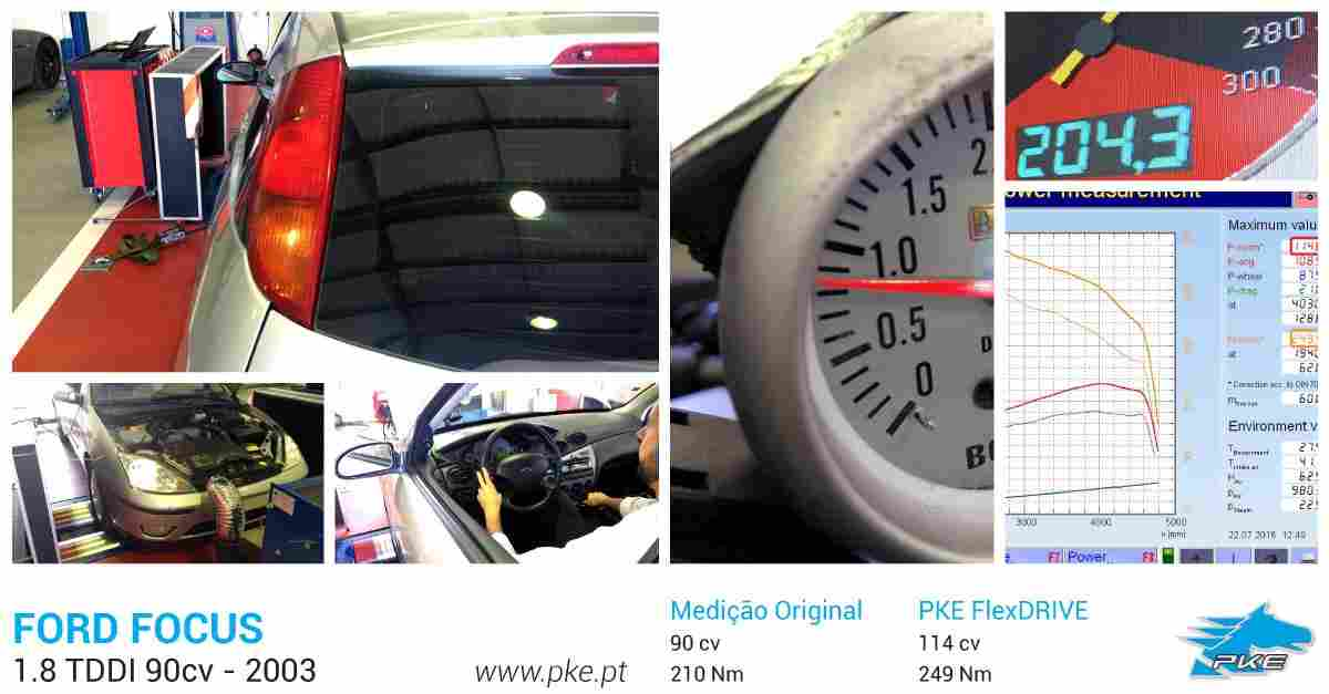 PKE FlexDRIVE em Ford Focus 1.8 TDDI 90cv – 2003