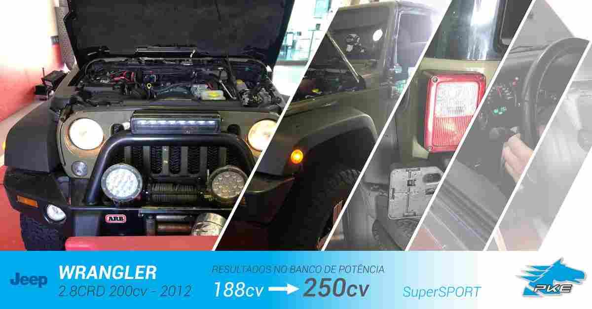 PKE SuperSPORT em Jeep Wrangler 2.8 CRD 200cv – 2012