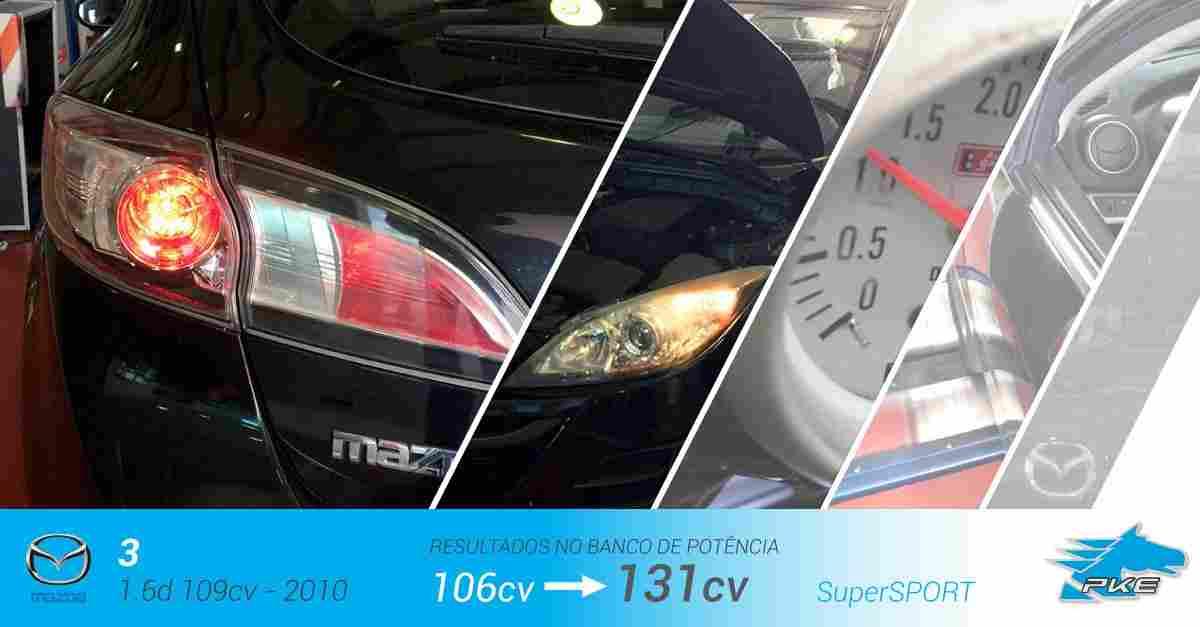 PKE SuperSPORT em Mazda 3 1.6d 109cv – 2010