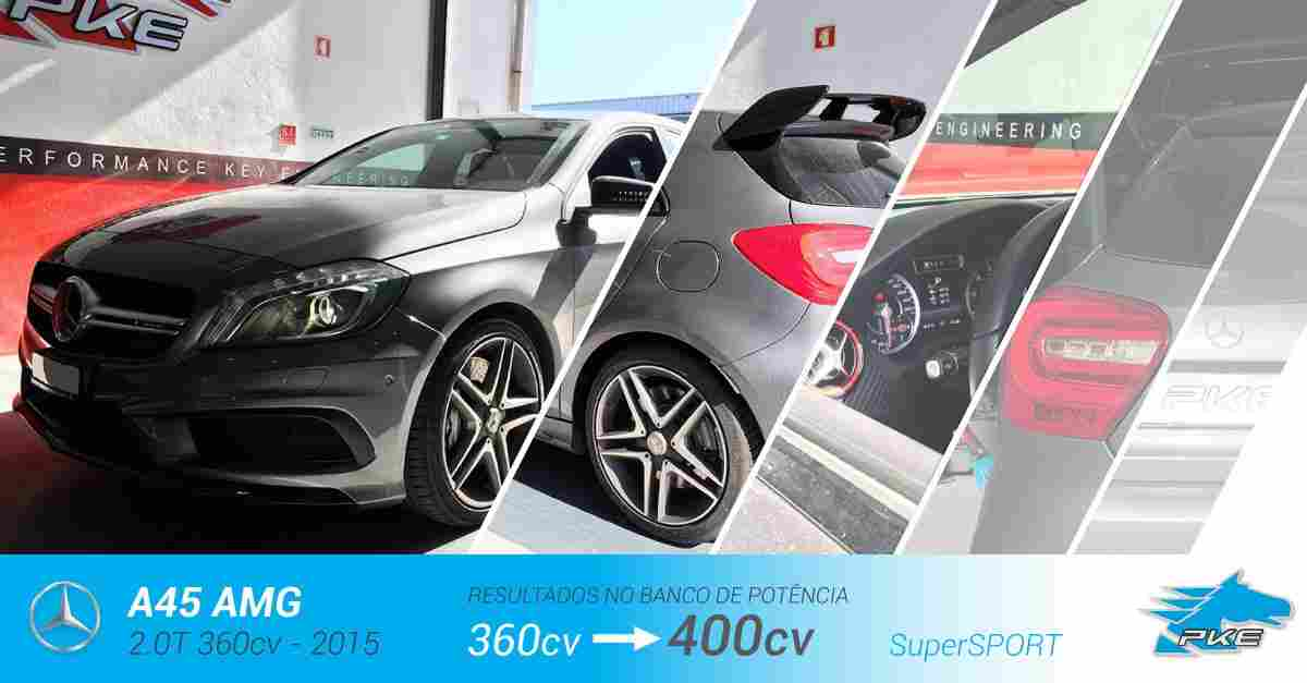 PKE SuperSPORT em Mercedes A45 AMG 2.0T 360cv – 2015