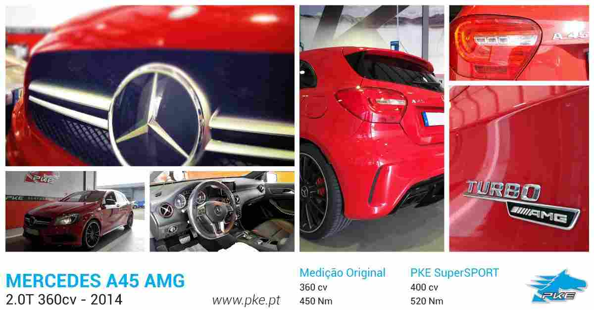PKE SuperSPORT em Mercedes A45 AMG 360cv – 2014