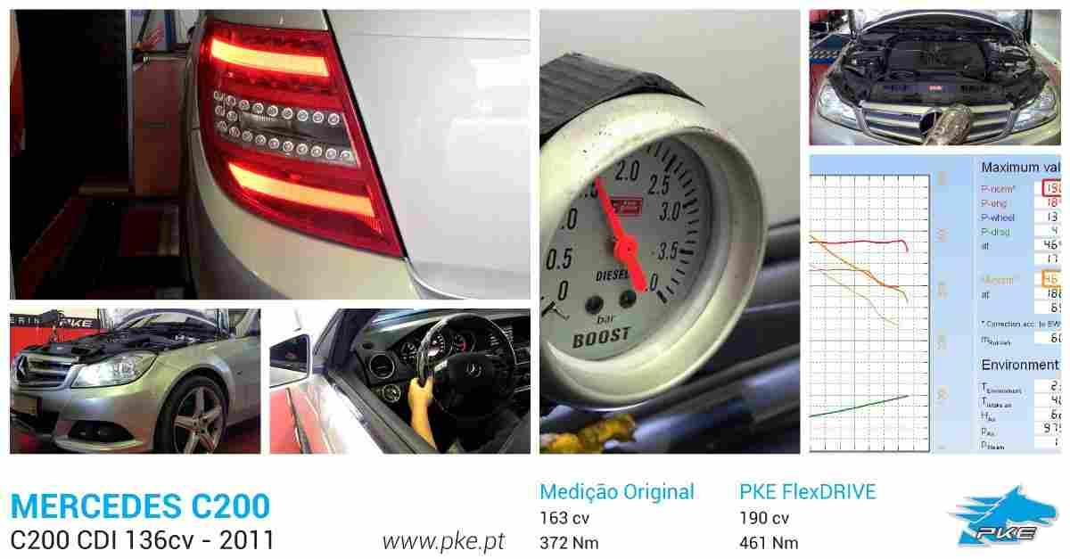 PKE FlexDRIVE em Mercedes C200 CDI 136cv – 2011