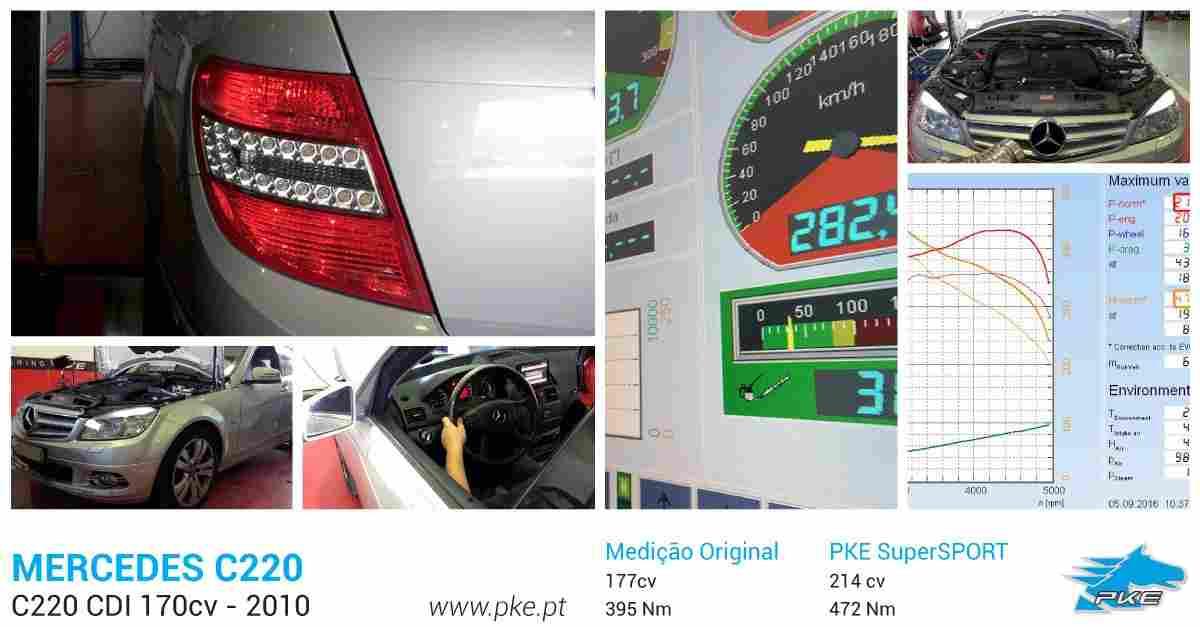 PKE FlexDRIVE em Mercedes C220 CDI 170cv – 2010