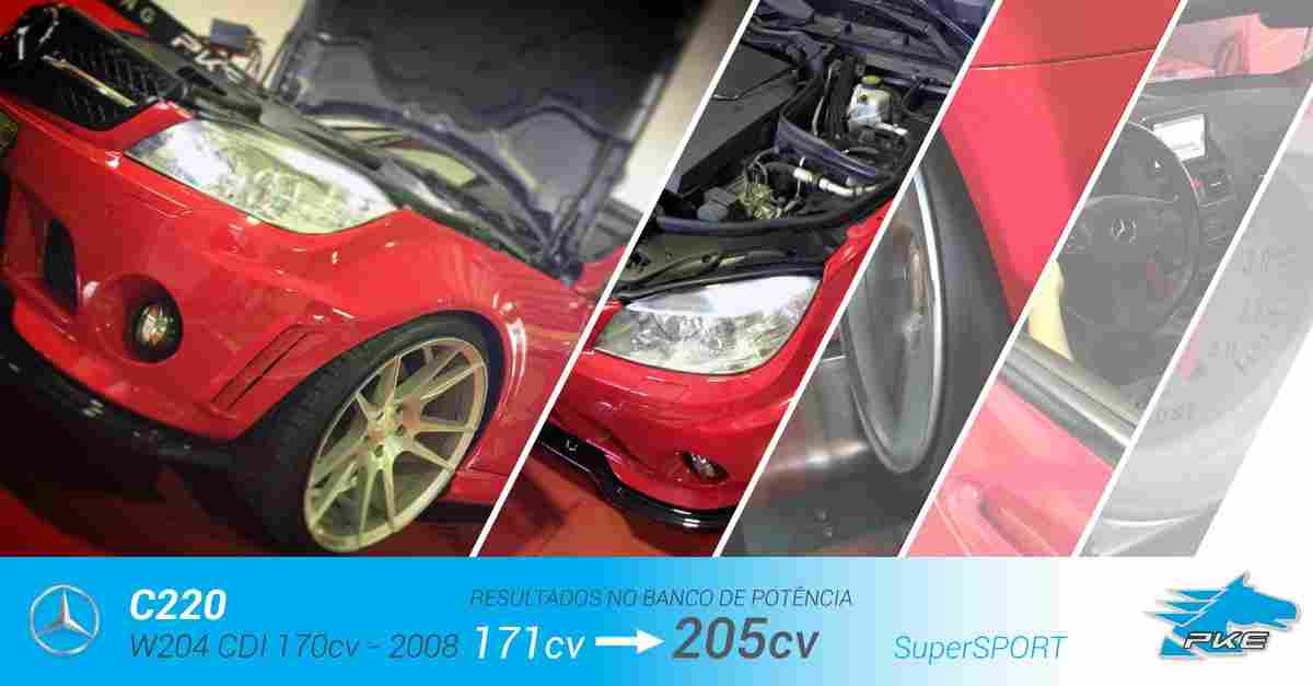 PKE SuperSPORT em Mercedes C220 170cv – 2008