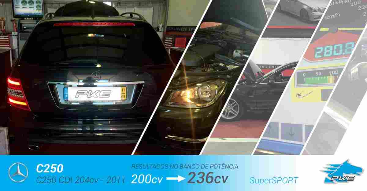 PKE SuperSPORT em Mercedes C250 CDI 204cv – 2011