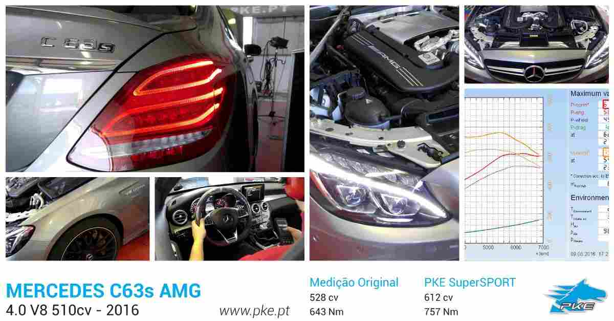PKE SuperSPORT em Mercedes C63s AMG 510cv – 2016