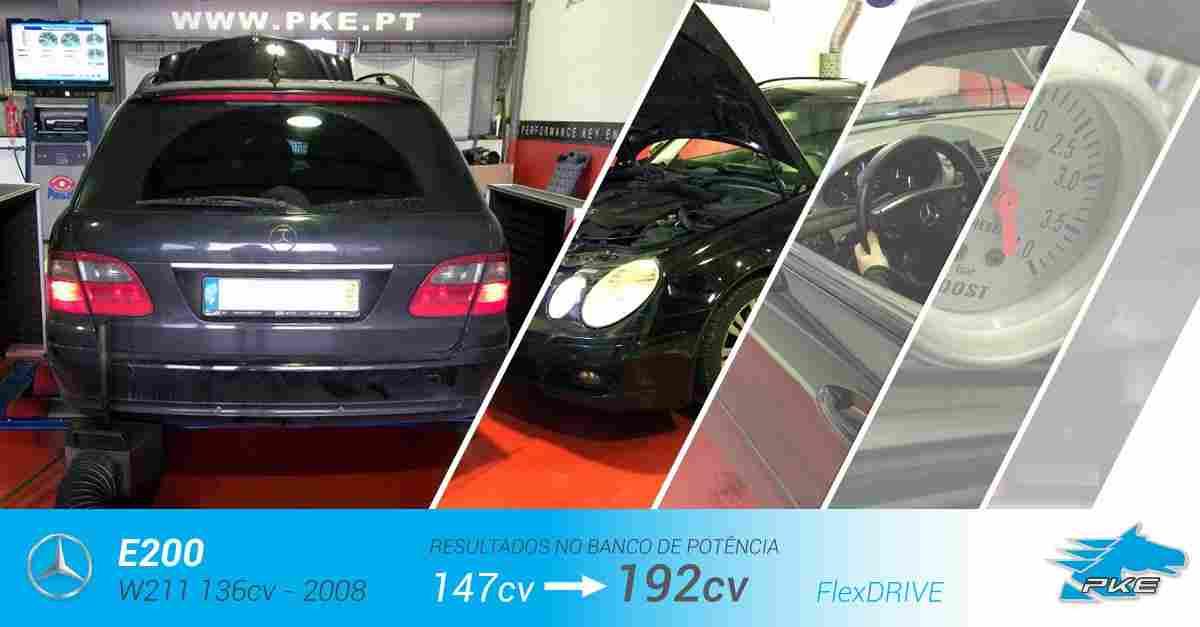 PKE FlexDRIVE em Mercedes E200 136cv – 2008