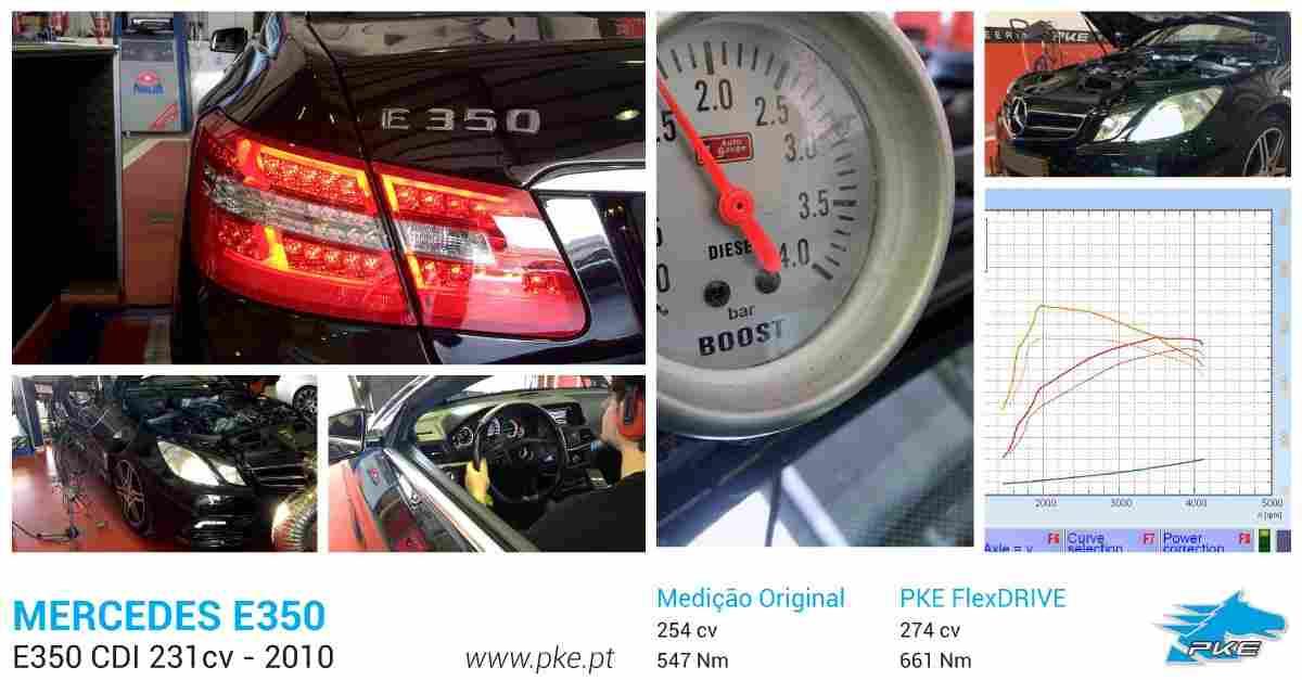 PKE FlexDRIVE em Mercedes E350 CDI 231cv – 2010