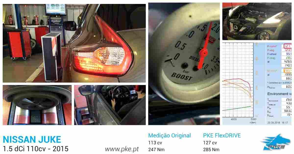 PKE FlexDRIVE em Nissan Juke 1.5 cDi 110cv – 2015