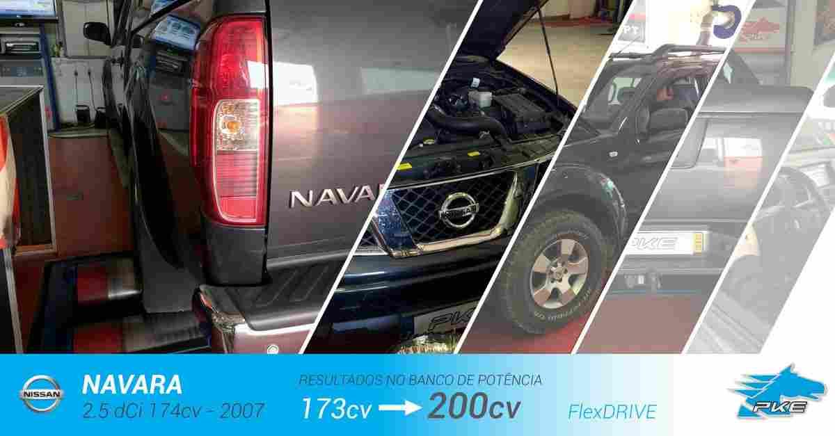 PKE FlexDRIVE em Nissan Navara 2.5 dCi 174cv – 2007