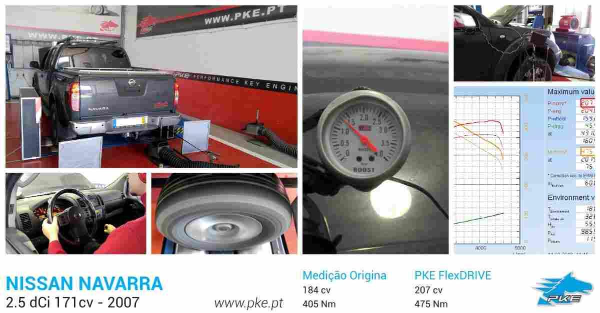 PKE FlexDRIVE em Nissan Navarra 2.5 dCi 171cv – 2007