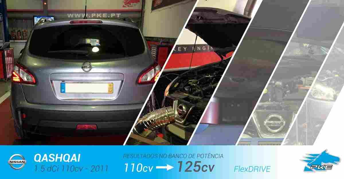 PKE FlexDRIVE em Nissan Qashqai 1.5 dCi 110cv – 2011
