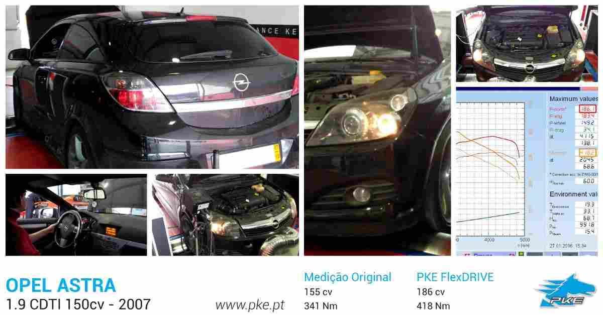 PKE FlexDRIVE em Opel Astra 1.9 CDTI 150cv – 2007