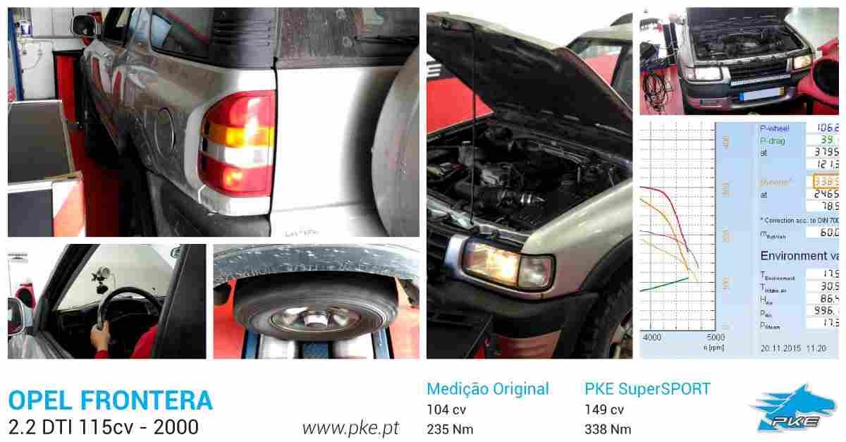 PKE SuperSPORT em Opel Frontera 2.2 DTI 115cv – 2000