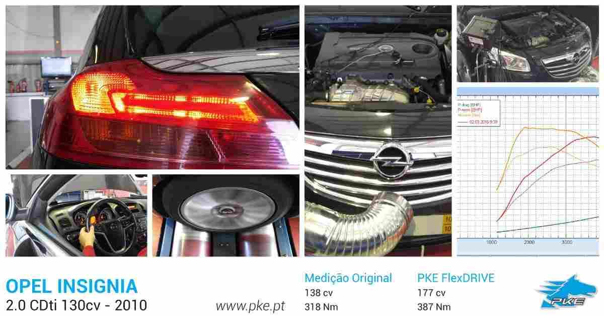 PKE FlexDRIVE em Opel Insignia 2.0 CDti 130cv – 2010