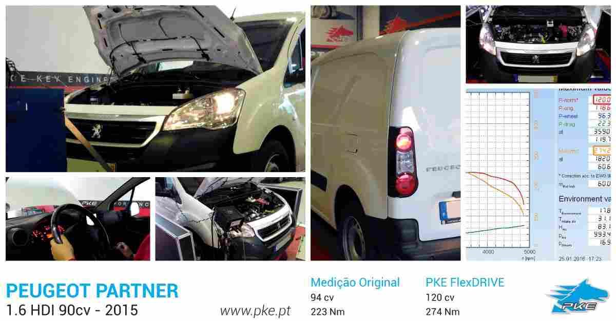 PKE FlexDRIVE em Peugeot Partner 1.6 HDI 90cv – 2015