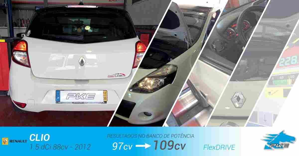PKE FlexDRIVE em Renault Clio 1.5 dCi 88cv – 2012