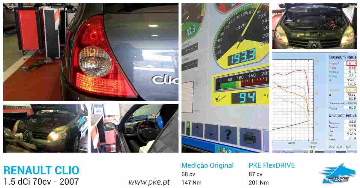 PKE FlexDRIVE em Renault Clio 1.5 dCi 70cv – 2007