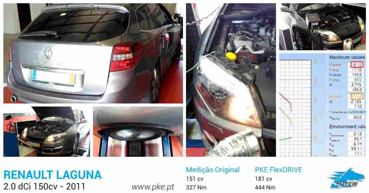 PKE FlexDRIVE em Renault Laguna 2.0 dCi 150cv – 2011