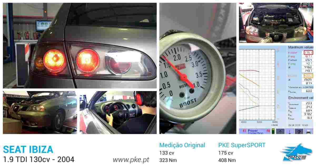 PKE SuperSPORT em Seat Ibiza 1.9 TDI 130cv – 2004