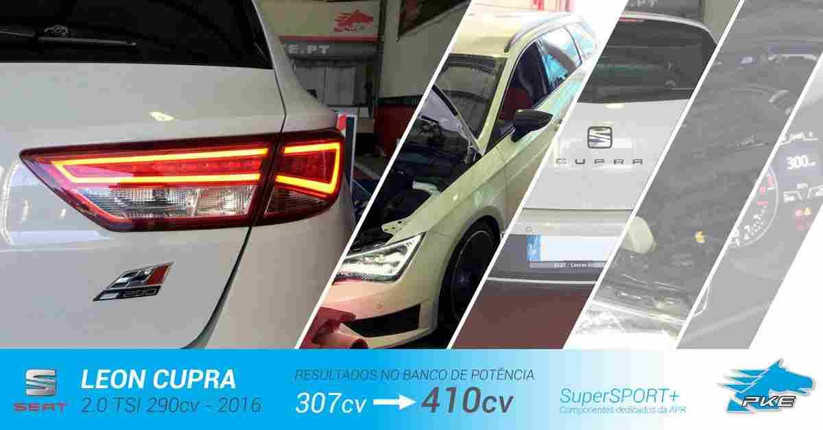 PKE SuperSPORT+ e componentes APR em Seat Leon Cupra 2.0 TSI 290cv – 2016